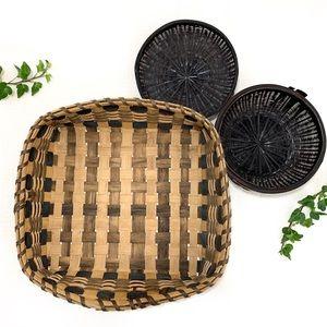 vintage bohemian handwoven basket wall home decor